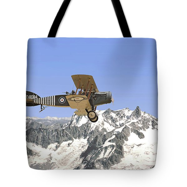 Tote Bag featuring the photograph Ww1 - Bristol Fighter by Pat Speirs