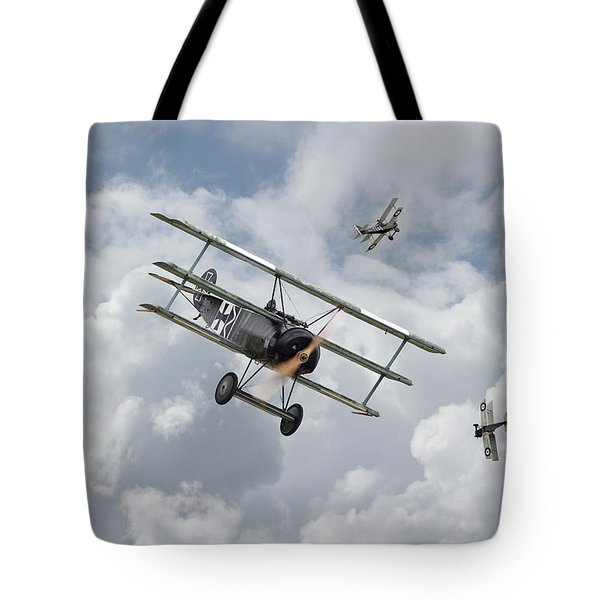 Tote Bag featuring the photograph Ww1 - Fokker Dr1 - Predator by Pat Speirs