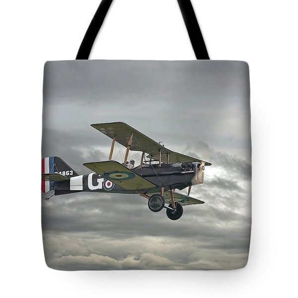 Tote Bag featuring the digital art Ww1 - Icon Se5 by Pat Speirs