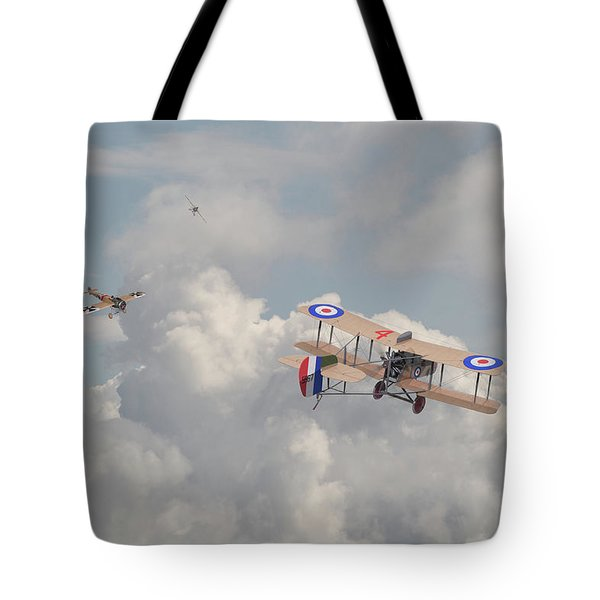 Tote Bag featuring the photograph Ww1 - The Fokker Scourge - Eindecker by Pat Speirs
