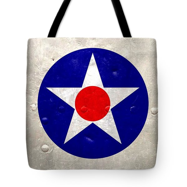 Tote Bag featuring the digital art Ww2 Army Air Corp Insignia by John Wills