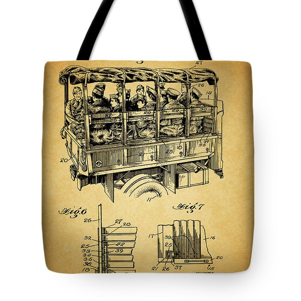 Ww2 Military Transport Vehicle Tote Bag by Dan Sproul