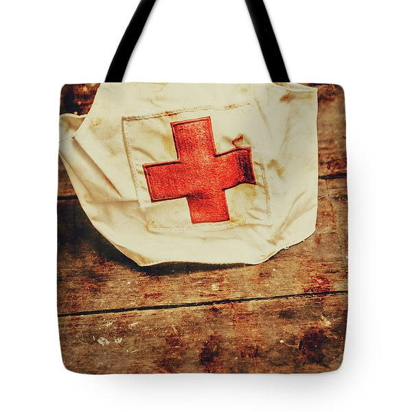 Ww2 Nurse Hat. Army Medical Corps Tote Bag