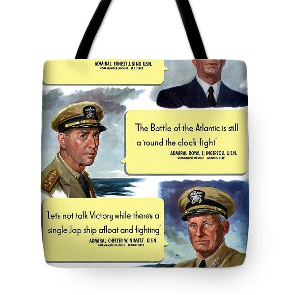 Ww2 Us Navy Admirals Tote Bag