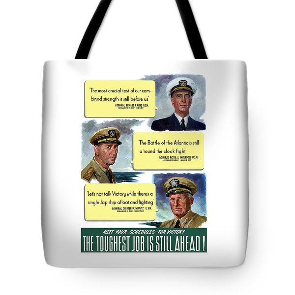 Ww2 Us Navy Admirals Tote Bag by War Is Hell Store