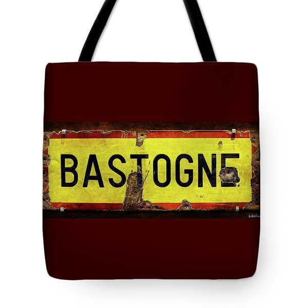 Wwii Bastogne Town Sign Tote Bag