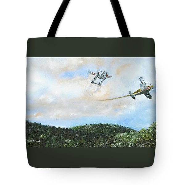 Wwii Dogfight Tote Bag