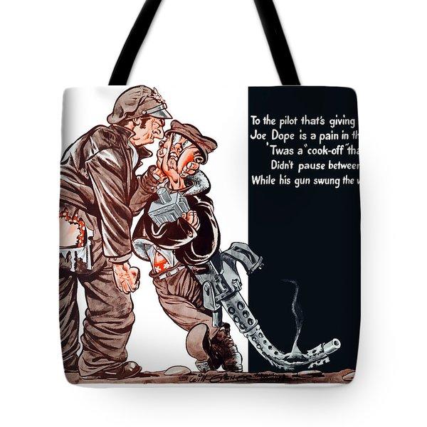 Wwii Joe Dope Cartoon Tote Bag