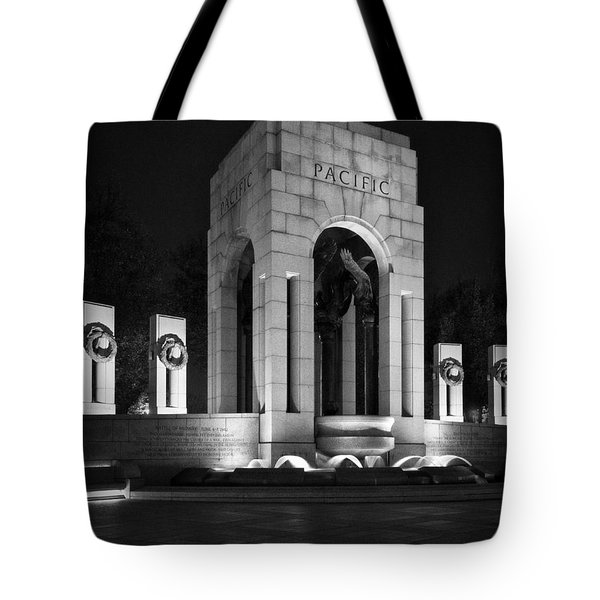 Tote Bag featuring the photograph World War 2 Memorial, Pacific by Ross Henton