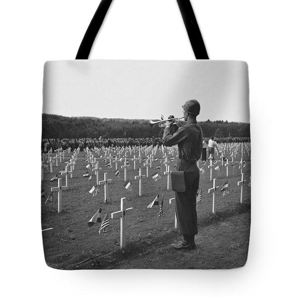 Wwii Taps Memorial Service Tote Bag