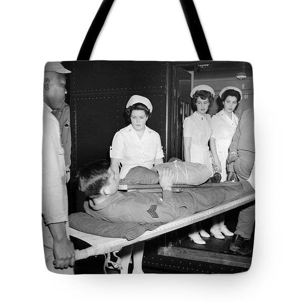 Wwii Wounded Soldiers Return Tote Bag
