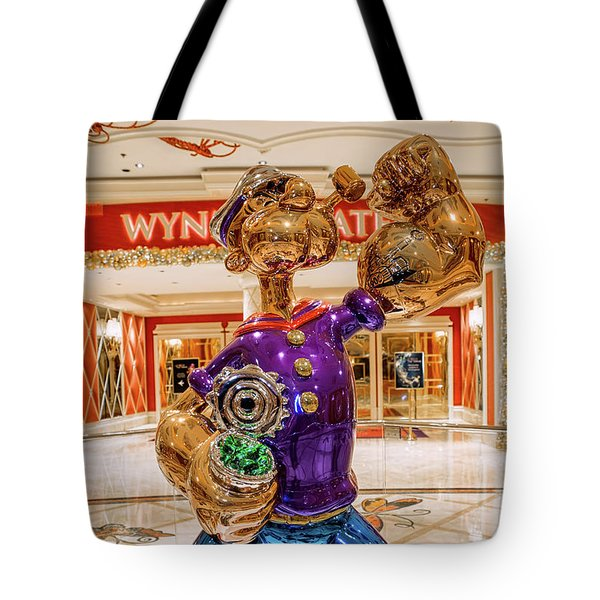 Wynn Popeye Statue By Jeff Koons Tote Bag
