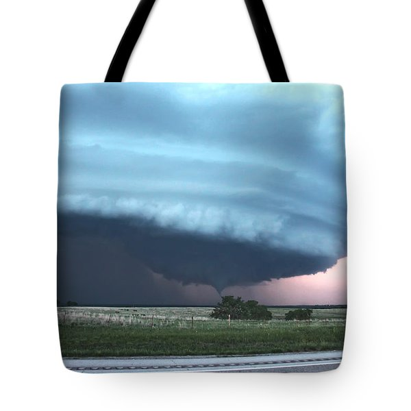 Wynnewood Tornado Tote Bag by James Menzies