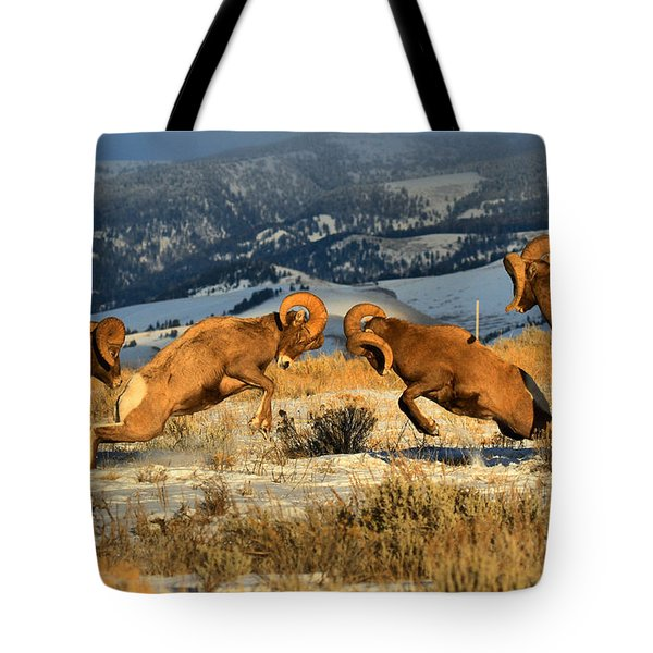 Wyoming Big Horn Brawlers Crop Tote Bag