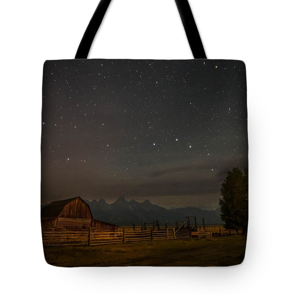 Tote Bag featuring the photograph Wyoming Countryside At Night by Serge Skiba