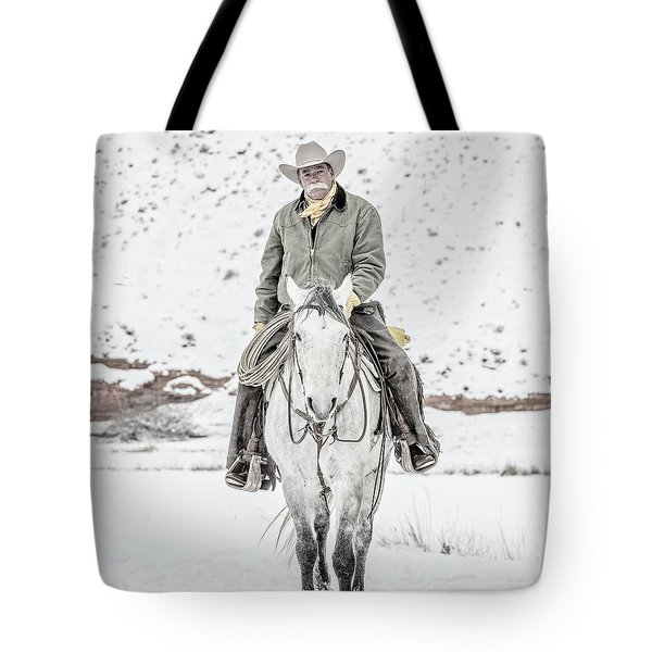 Wyoming Cowboy Tote Bag