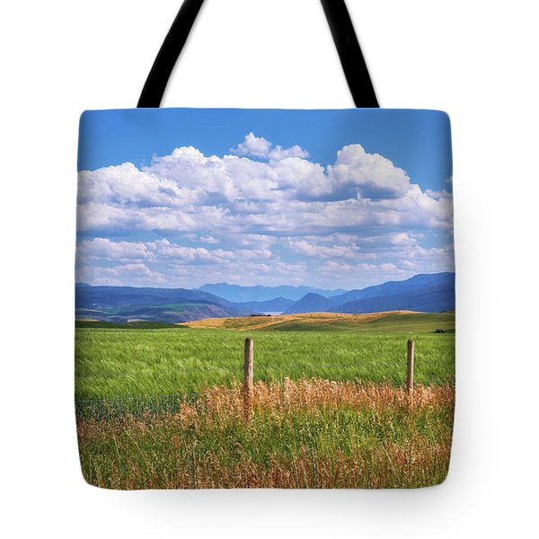 Tote Bag featuring the photograph Wyoming Landscape by Sharon Seaward
