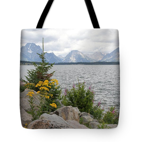 Wyoming Mountains Tote Bag
