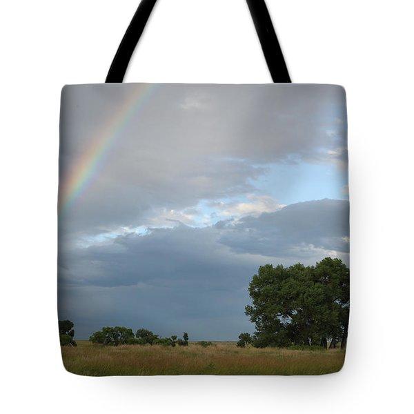 Wyoming Rainbow Tote Bag