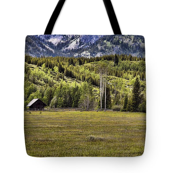 Wyoming Ranch Tote Bag by Hugh Smith