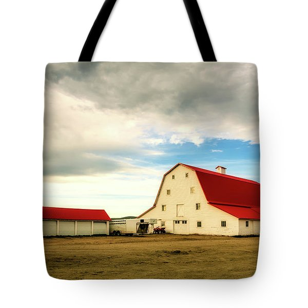 Wyoming Ranch Tote Bag by L O C