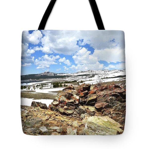 Wyoming's Big Horn Pass Tote Bag
