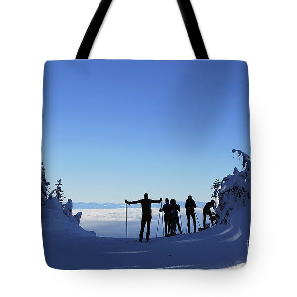 X-country Skiing  Tote Bag