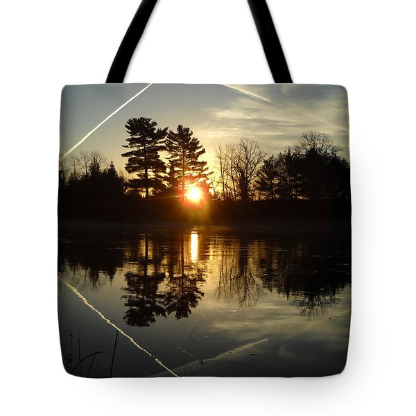 X Marks The Spot Sunrise Reflection Tote Bag