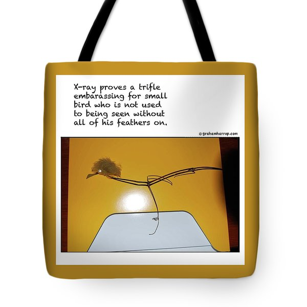 Tote Bag featuring the photograph X-ray Bird by Graham Harrop