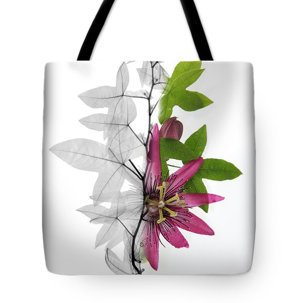 X-ray Of A Passion Flower Tote Bag by Ted Kinsman