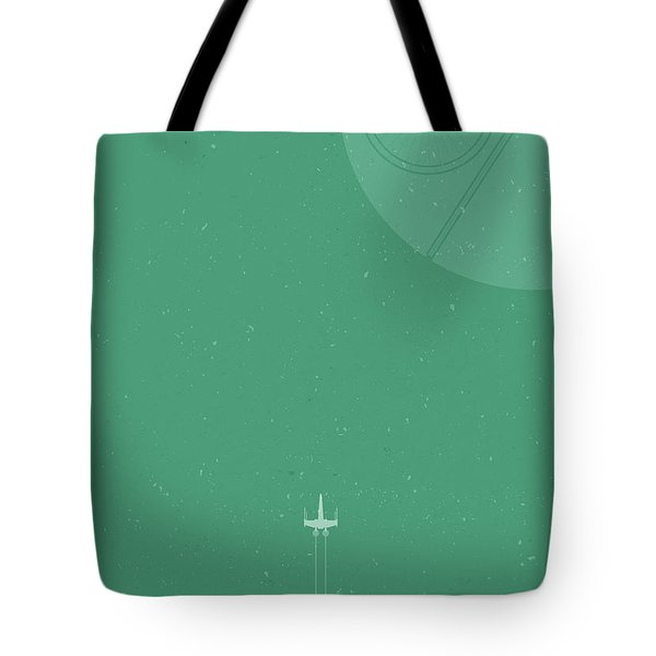 X-wing Meets Death Star Tote Bag by Samuel Whitton