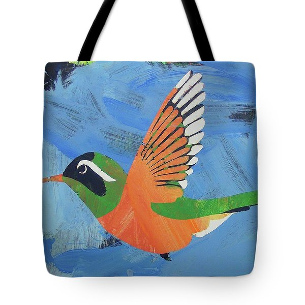 Tote Bag featuring the painting Xantus Hummingbird by Candace Shrope