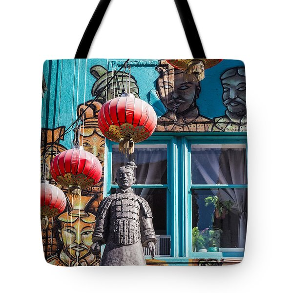 Xian Soldier With Graffiti Tote Bag