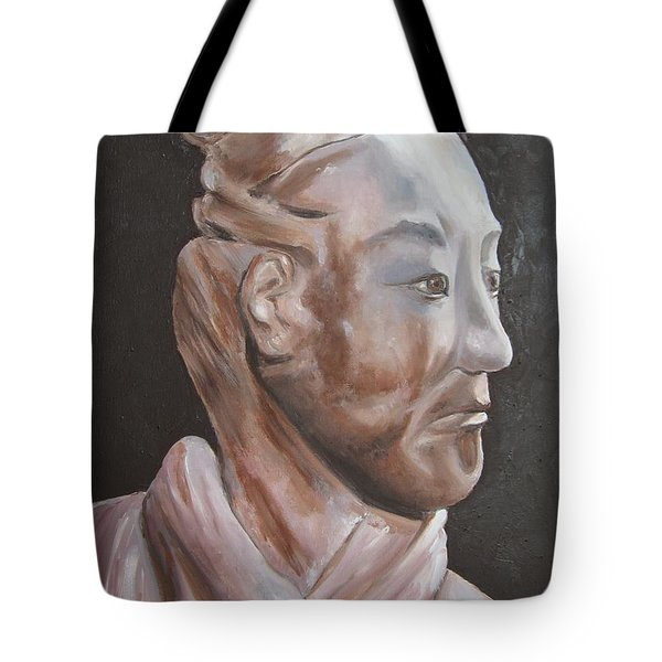 Xian Warrior China Tote Bag