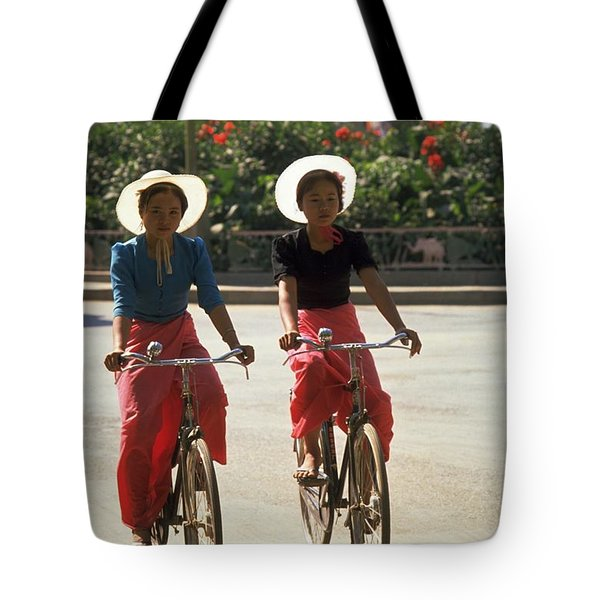 Xishuangbanna Cyclists Tote Bag