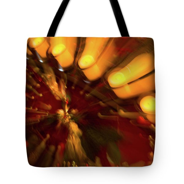 Tote Bag featuring the photograph Xmas Burst 1 by Rebecca Cozart