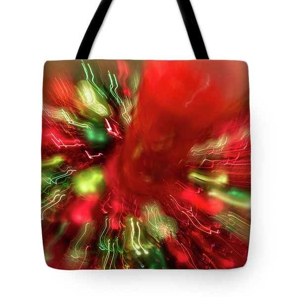 Tote Bag featuring the photograph Xmas Burst 2 by Rebecca Cozart