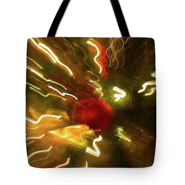 Tote Bag featuring the photograph Xmas Burst 3 by Rebecca Cozart