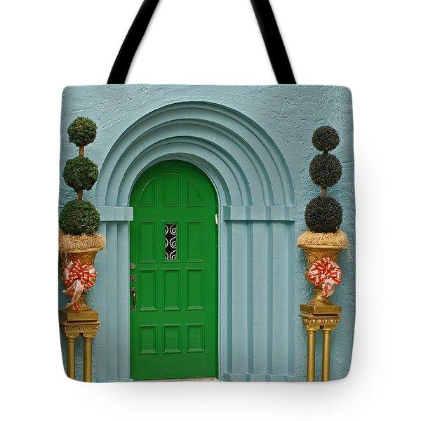 Xmas Door Tote Bag