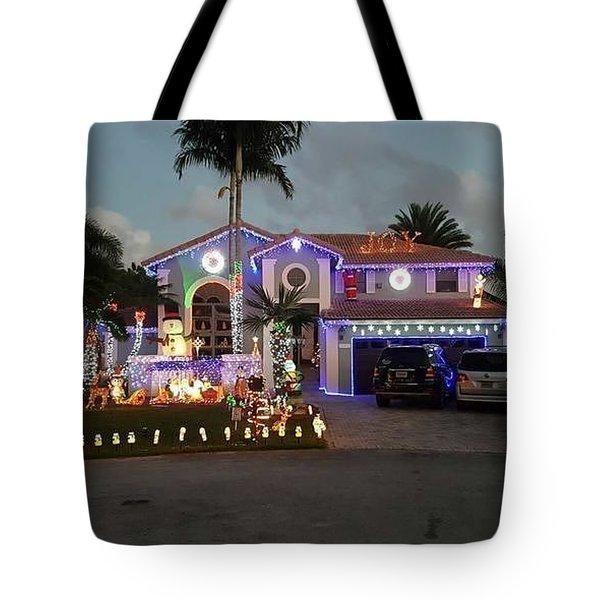 Xmas House Tote Bag