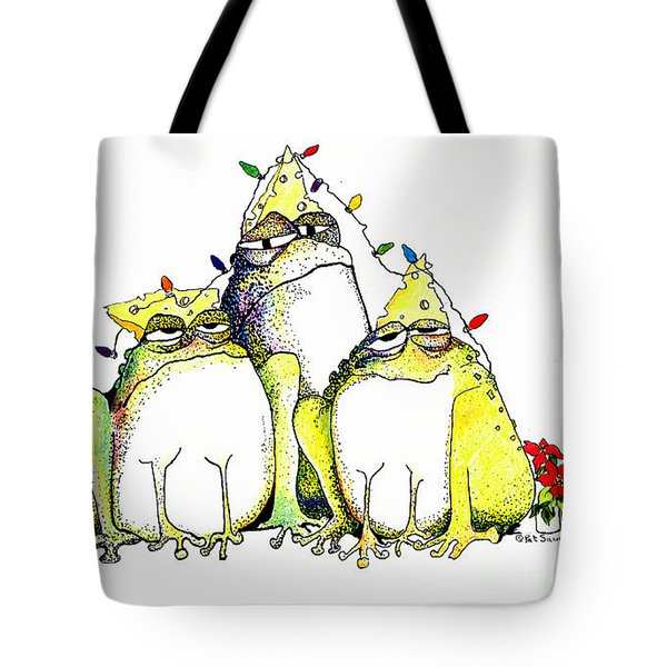 Xmas Lights Tote Bag by Pat Saunders-White