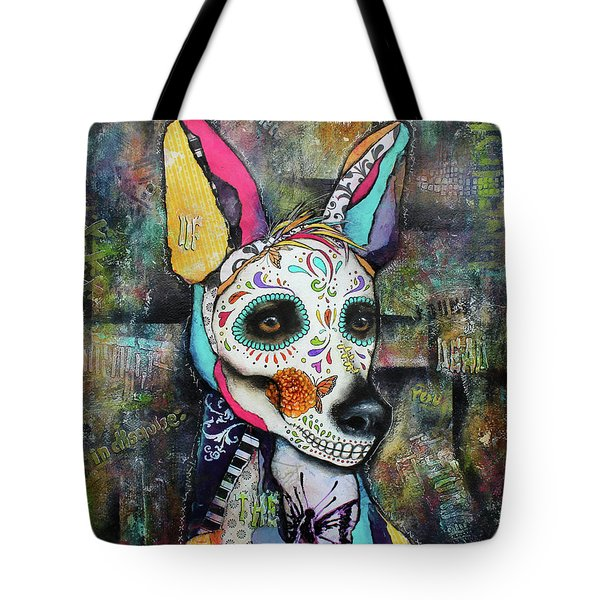 Xolo Mexican Hairless Day Of The Dead Tote Bag
