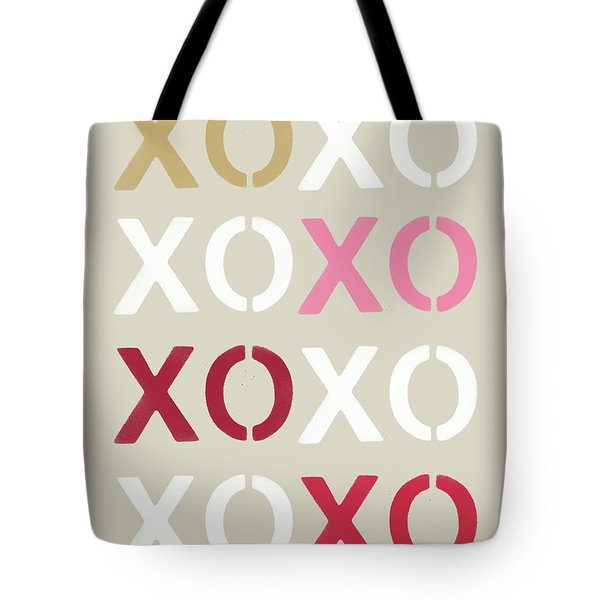 Tote Bag featuring the mixed media Xoxo- Art By Linda Woods by Linda Woods