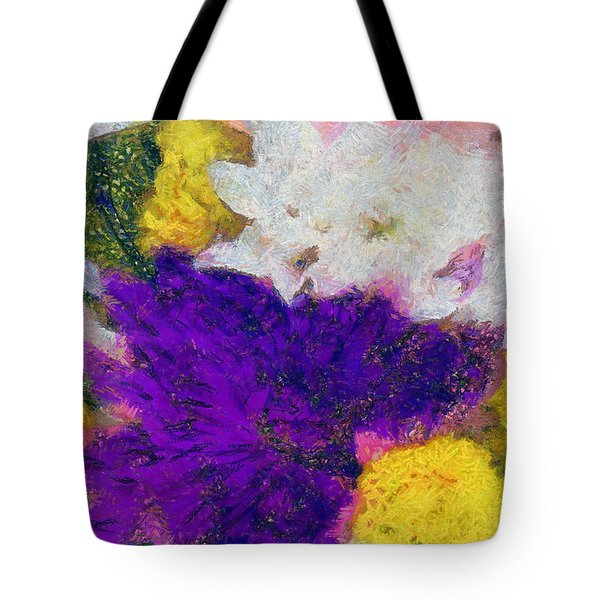 Xtreme Floral Eleven Purple And White Tote Bag