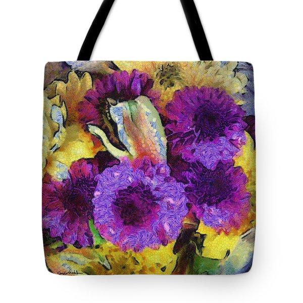 Xtreme Floral Twelve Cozy And Snug Tote Bag