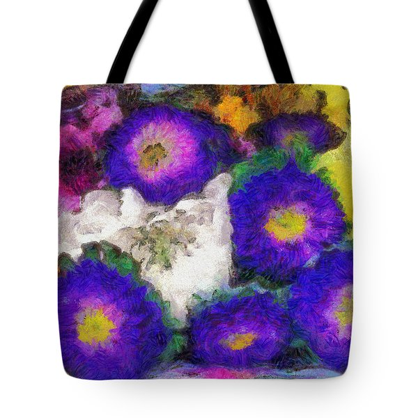 Xtreme Floral Fifteen Chillin' With The Purple Family Tote Bag