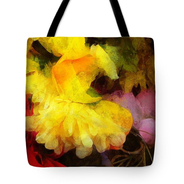 Xtreme Floral 18 Yellow Unfolding Tote Bag