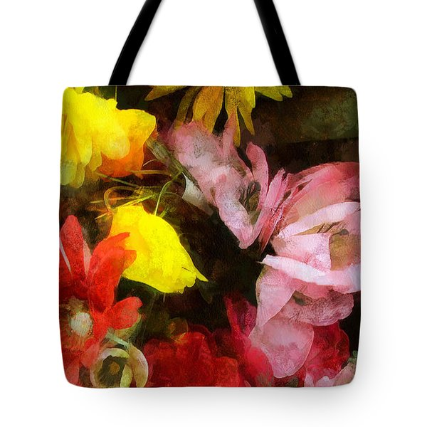 Xtreme Floral Nineteen Powerful In Pink Tote Bag