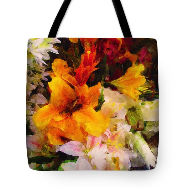 Say Ahhhh Xtreme Floral Twenty Tote Bag