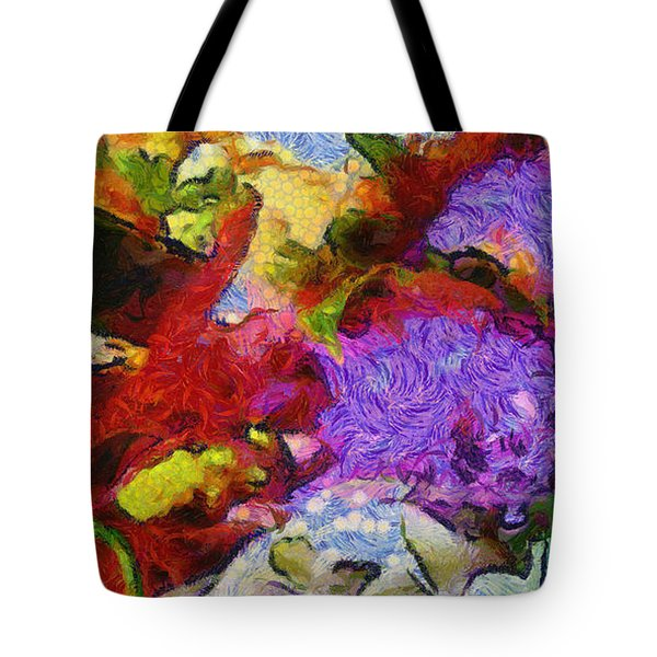 Xtreme Floral Three Riot Tote Bag by Spyder Webb